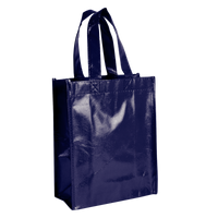 Navy Blue Laminated Fiesta Tote Thumb