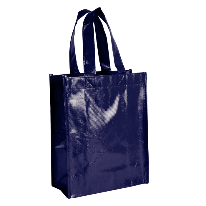 Navy Blue Laminated Fiesta Tote