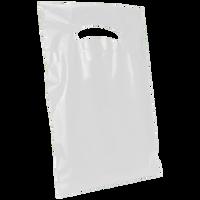 White Extra Small Eco-friendly Die Cut Plastic bag Thumb