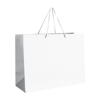 White Medium Matte Shopper Bag Thumb