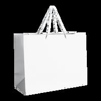 White Medium Matte Shopper Bag Thumb