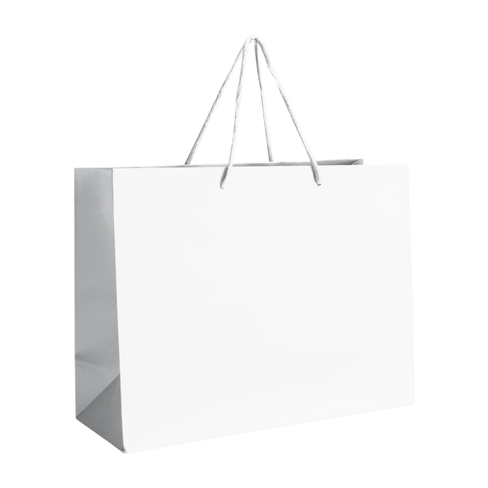 White Medium Matte Shopper Bag