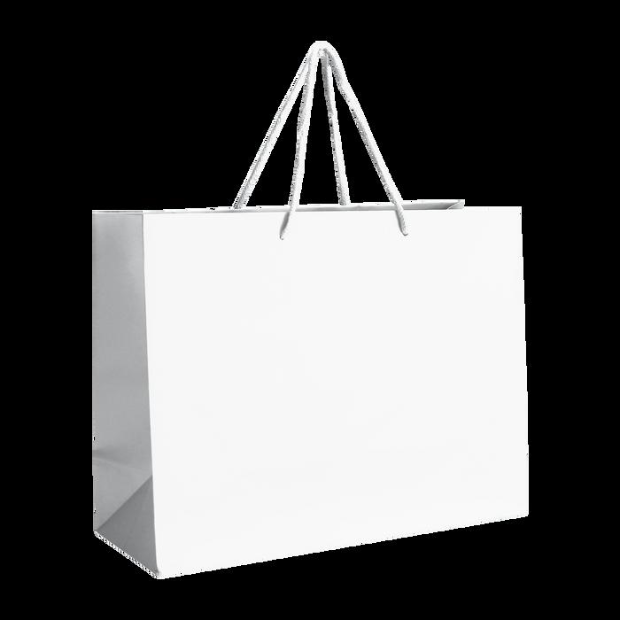 White Medium Matte Shopper Bag