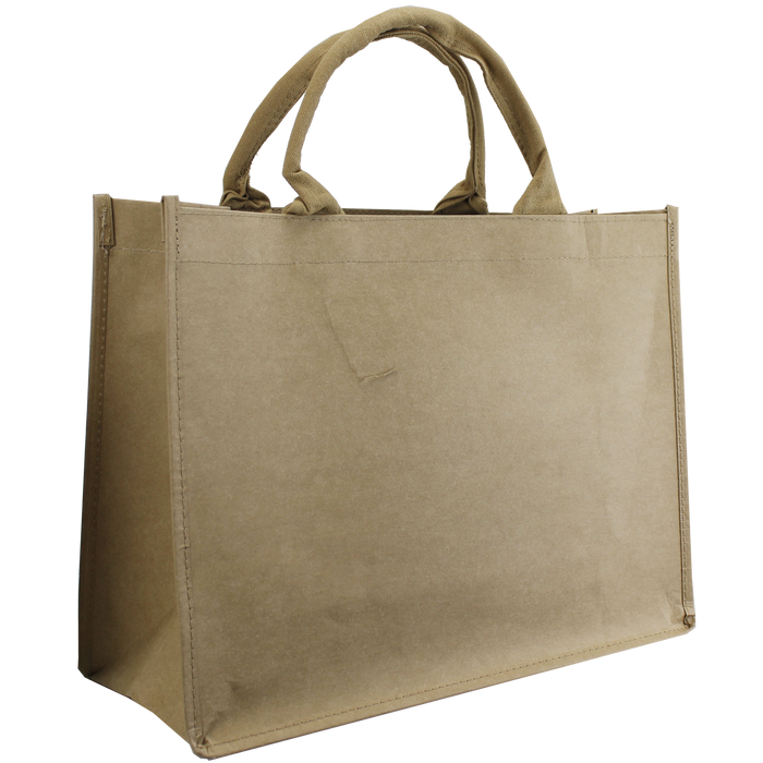 Natural Paper Washable Paper Convention Tote Bag