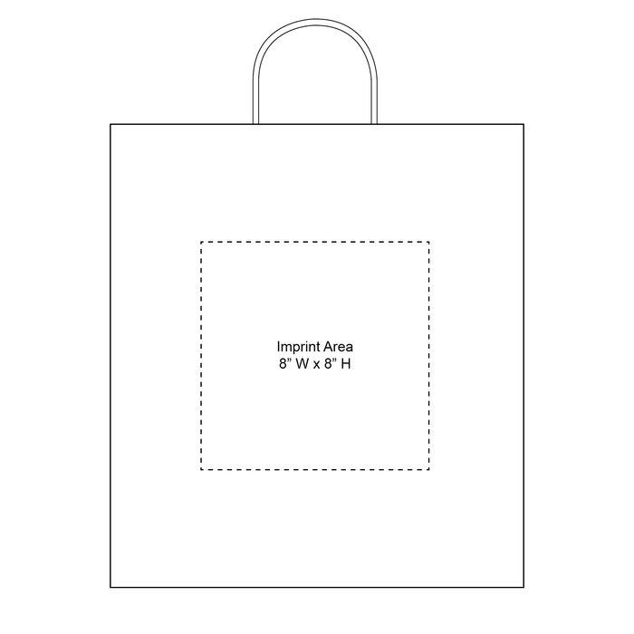 Extra Large White Paper Shopper Bag