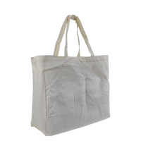 Natural Cotton Canvas Little Storm Grocery Bag Thumb