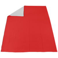 Scarlet Red Sweatshirt Sport Throw Blanket Thumb