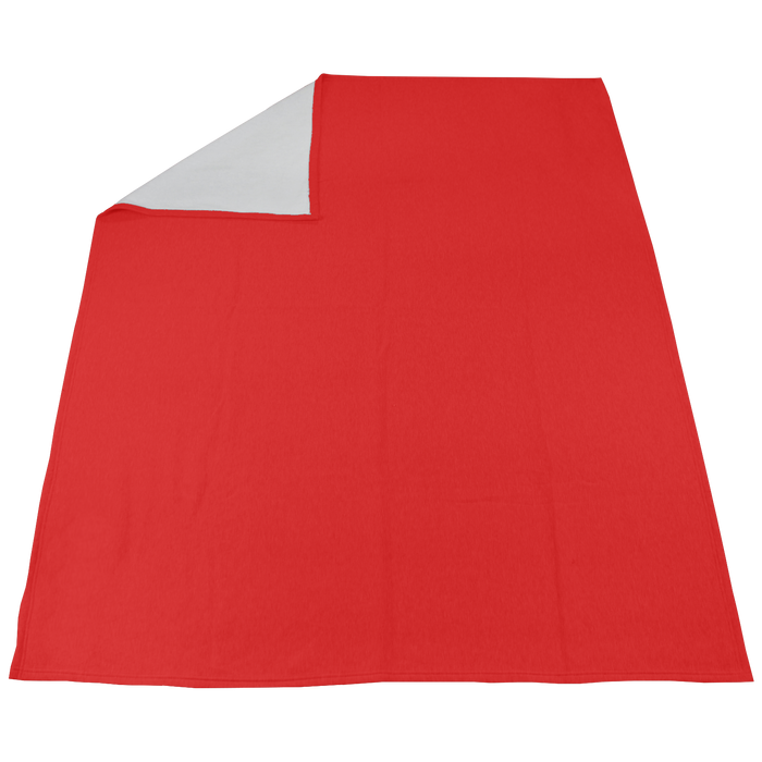 Scarlet Red Sweatshirt Sport Throw Blanket