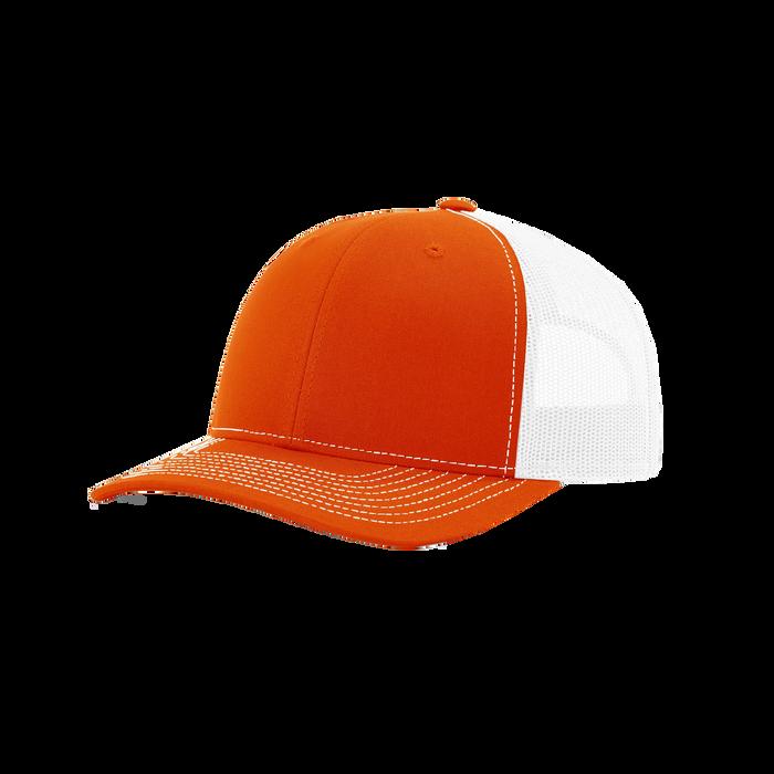 Orange/White Richardson Trucker Snapback Hat