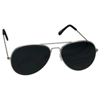Silver Classic Aviator Sunglasses Thumb