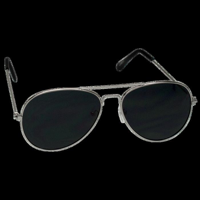 Silver Classic Aviator Sunglasses