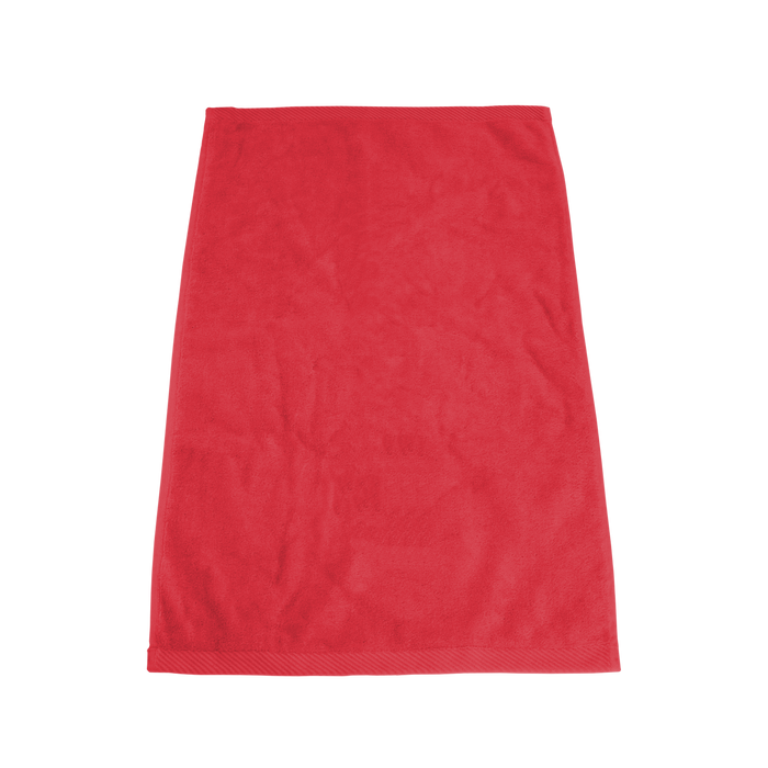 Red Ultraweight Colored Fitness Towel