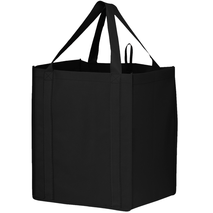 Black Big Storm Grocery Bag