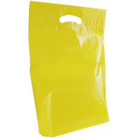Yellow Medium Die Cut Plastic Bag Thumb