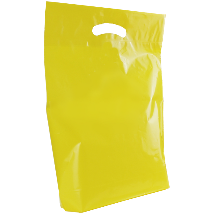 Yellow Medium Die Cut Plastic Bag
