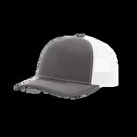 Charcoal/White Richardson Trucker Snapback Hat Thumb