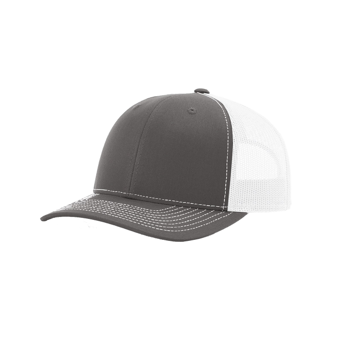 Charcoal/White Richardson Trucker Snapback Hat