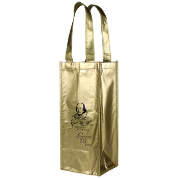 Laminated Single Bottle Wine Tote
