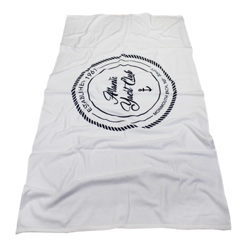 Heavy Weight American Made White Beach Towel
