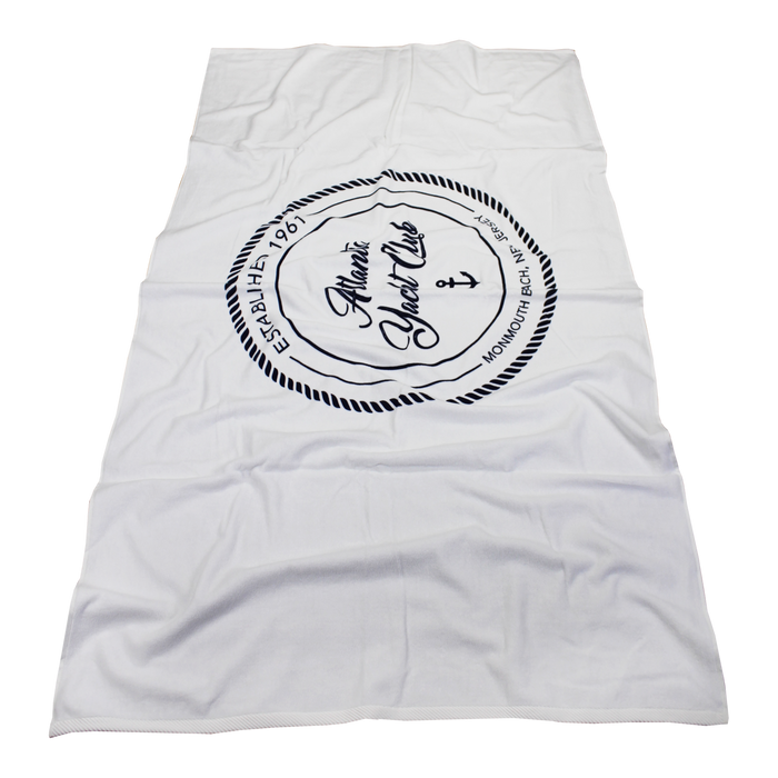 Heavy Weight American Made White Beach Towel