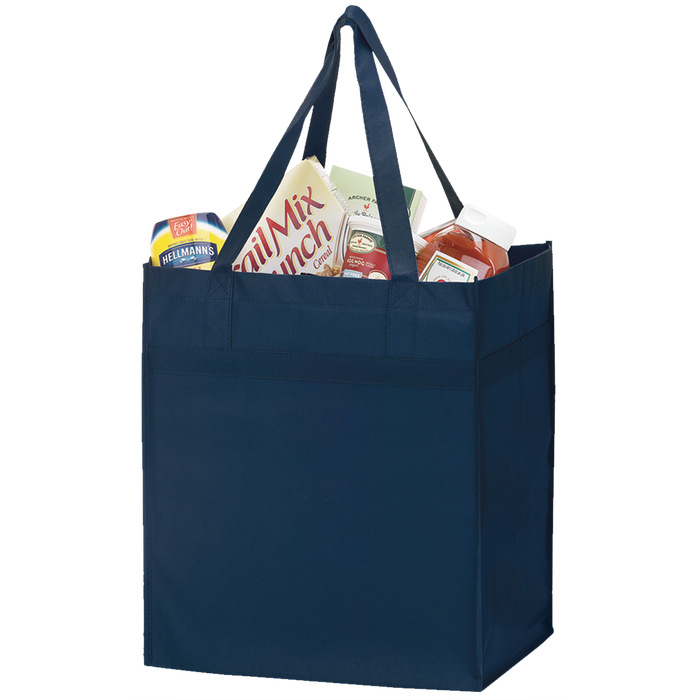 Navy Blue Big Tex Grocery Bag