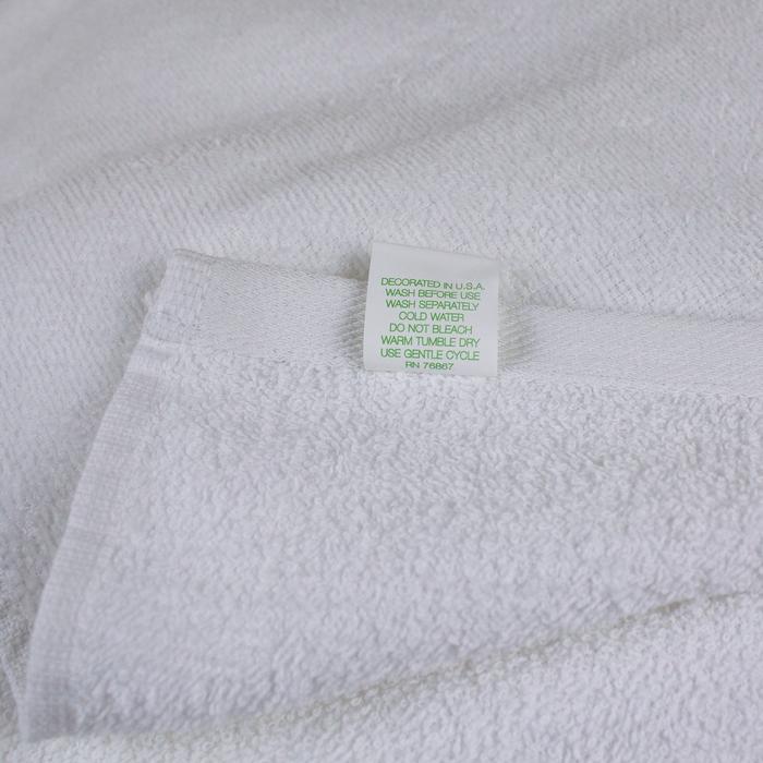 Budget White Beach Towel