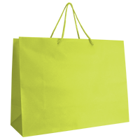 Lime Large Matte Shopper Bag Thumb
