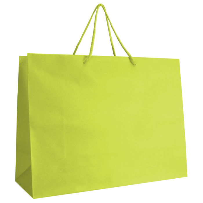 Lime Large Matte Shopper Bag