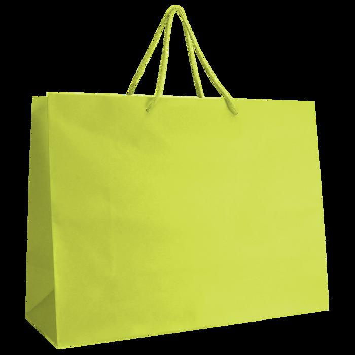 Lime Large Matte Shopper Bag