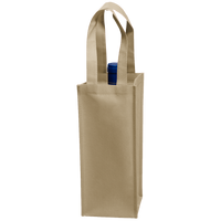 Light Khaki Single Bottle Wine Tote Thumb