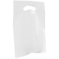 White Small Recyclable Die Cut Plastic Bag Thumb