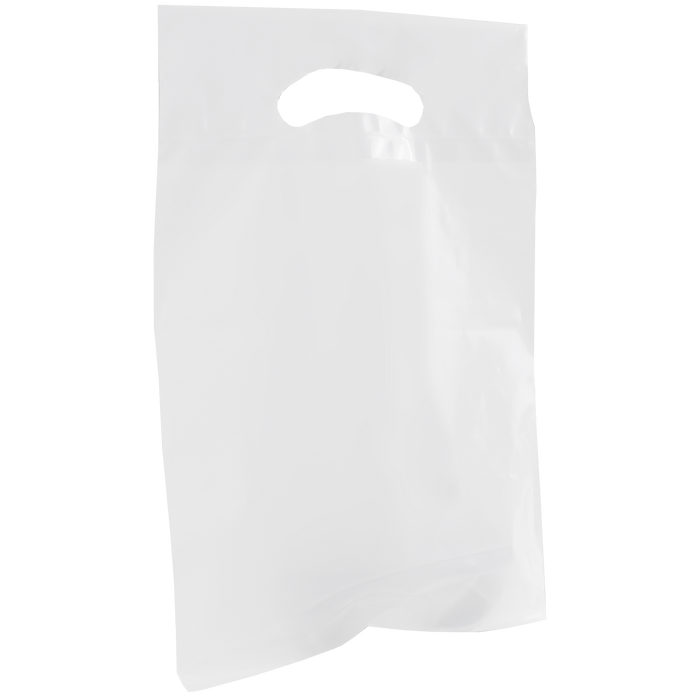 White Small Recyclable Die Cut Plastic Bag