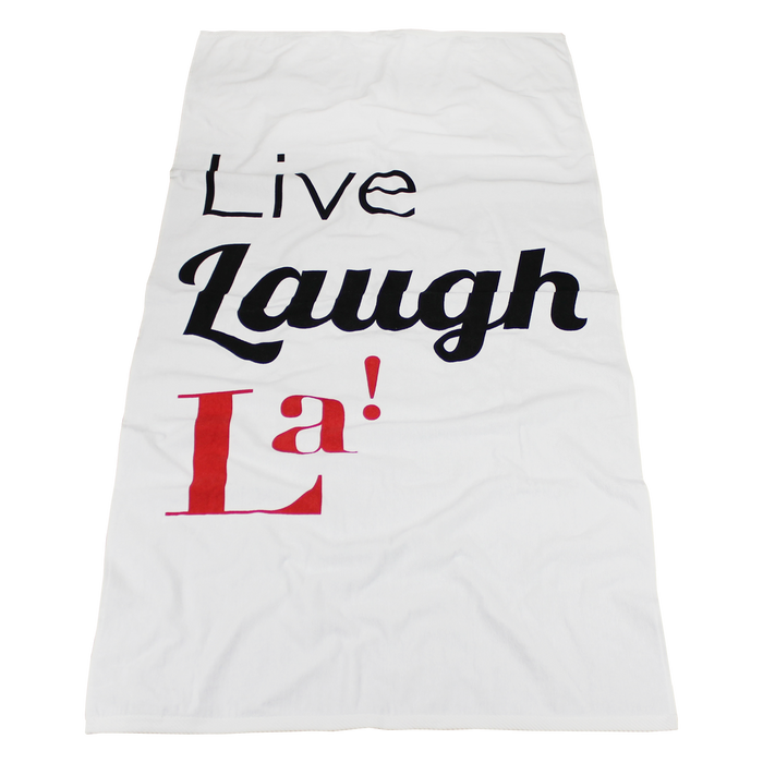 Catalina White Beach Towel