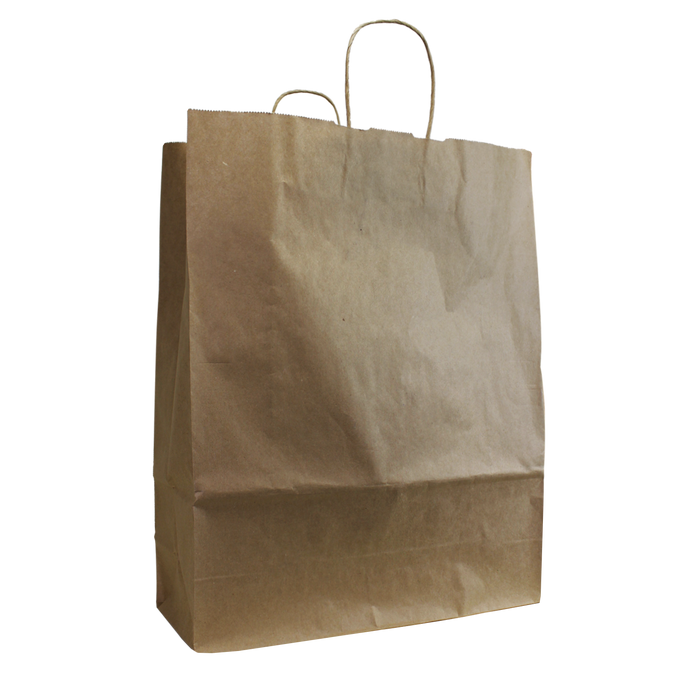 Natural Tall Kraft Paper Shopper Bag