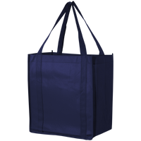 Navy Blue Thrifty Grocery Tote Thumb