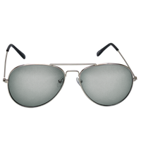 Silver Mirrored Miami Aviator Sunglasses Thumb