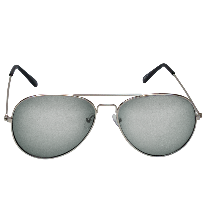 Silver Mirrored Miami Aviator Sunglasses