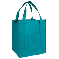 Teal Insulated Tote with Pocket Thumb