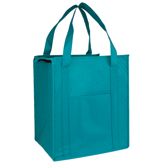 Teal Insulated Cooler Tote with Pocket