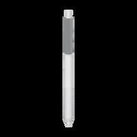 Metallic Silver with Blue Ink Antibacterial Pen Thumb