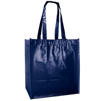 Navy Blue Laminated Little Storm Grocery Bag Thumb