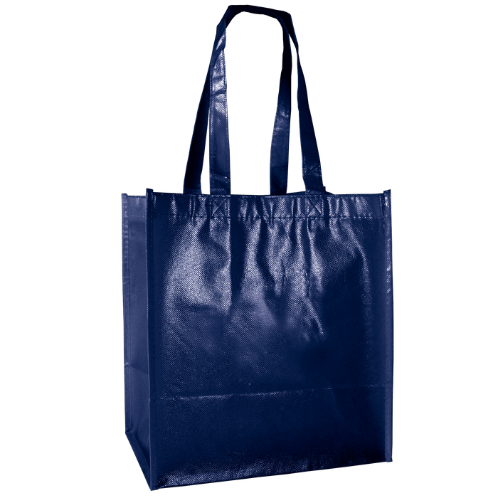 Navy Blue Laminated Little Storm Grocery Bag