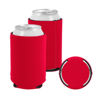 Red Premium Collapsible Neoprene Koozie Thumb