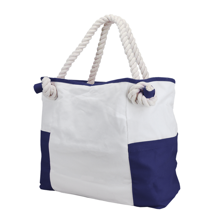 Navy Bungalow Beach Bag