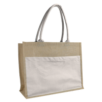 Natural Organic Jute Canvas Beach Tote Thumb