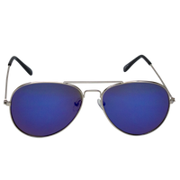 Blue Mirrored Miami Aviator Sunglasses Thumb