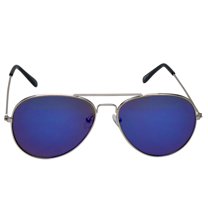 Blue Mirrored Miami Aviator Sunglasses