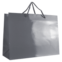 Platinum Large Glossy Shopper Bag Thumb