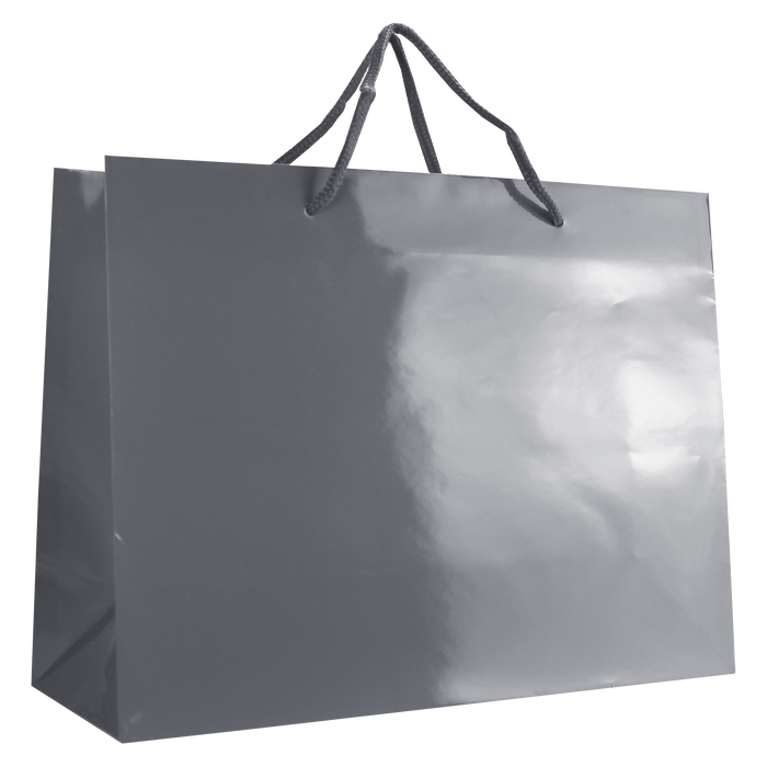 Platinum Large Glossy Shopper Bag