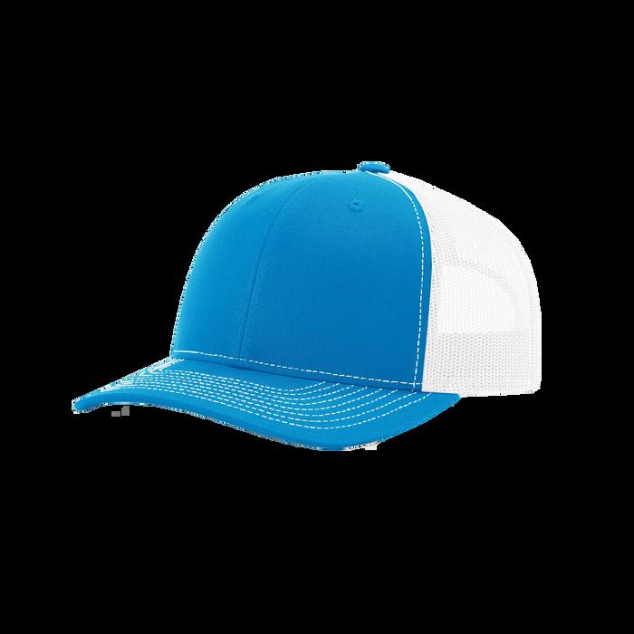 Cyan/White Richardson Trucker Snapback Hat